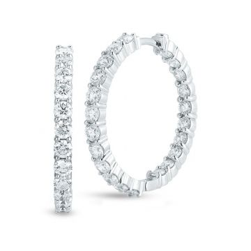 Roberto Coin Perfect Diamond Hoops