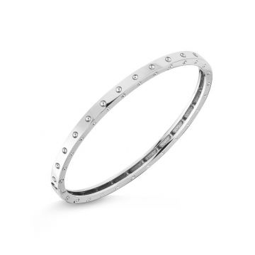 Roberto Coin 18k White Gold Symphony Pois Moi Bangle Bracelet