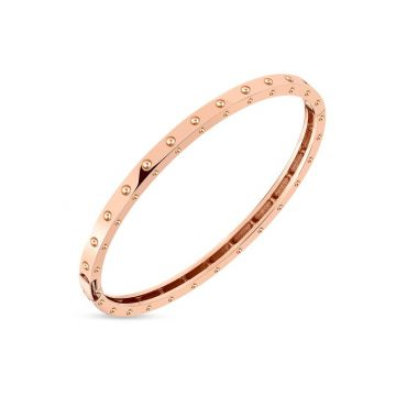 Roberto Coin 18k Rose Gold Symphony Pois Moi Bangle Bracelet