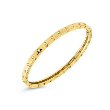Roberto Coin 18k Yellow Gold Symphony Pois Moi Bangle Bracelet