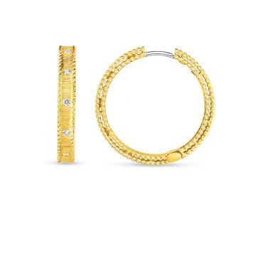 Roberto Coin 18K Yellow Gold Diamond Princess Earring, 23mm
