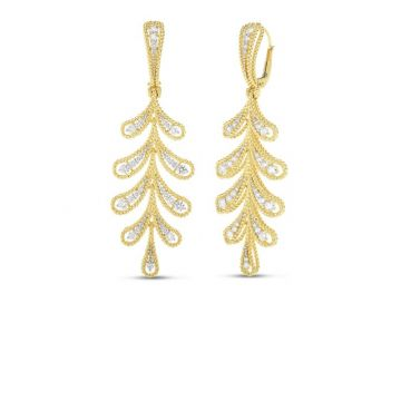 Roberto Coin Byzantine Barocco 18k Two Tone Gold Diamond Earrings
