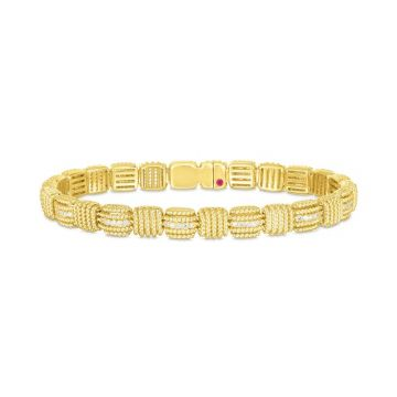 Roberto Coin 18K Yellow Gold Royal Opera Diamond Bracelet
