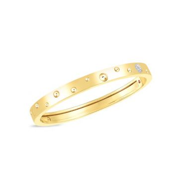 Roberto Coin 18K White Gold Pois Moi Luna Bangle