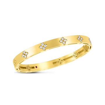 Roberto Coin 18K Yellow Gold Diamond Love in Verona Bangle, 48x58mm