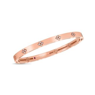 Roberto Coin 18K Rose Gold Diamond Love in Verona Bangle, 48x58mm