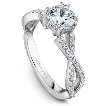 Noam Carver 14k White Gold Diamond Engagement Ring
