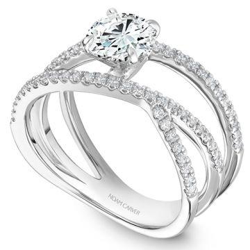 Noam Carver 14k White Gold Modern Diamond Engagement Ring