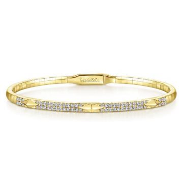 Gabriel & Co. 14k Yellow Gold Demure Diamond Bangle Bracelet