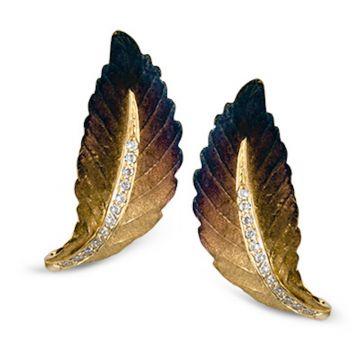 Simon G. 18k Gold Organic Allure Diamond Stud Earrings