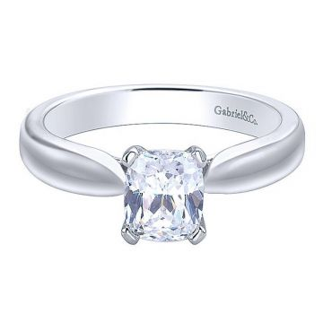 Gabriel & Co 14K White Gold Jamie Solitaire Diamond Engagement Ring