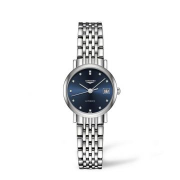 The Longines Elegant Collection 25mm Blue Dial Automatic Watch