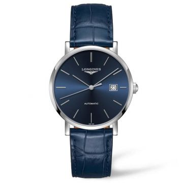 The Longines Elegant Collection 39mm Blue Dial Automatic Watch