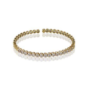 Simon G. 18k Yellow Gold Diamond Bangle Bracelet