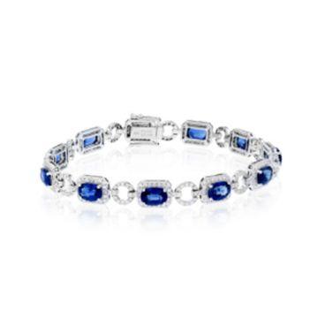 Simon G. 18k White Gold Diamond Bracelet