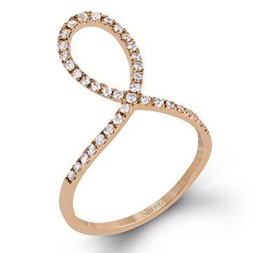 Simon G. 18k Rose Gold Garden Diamond Ring