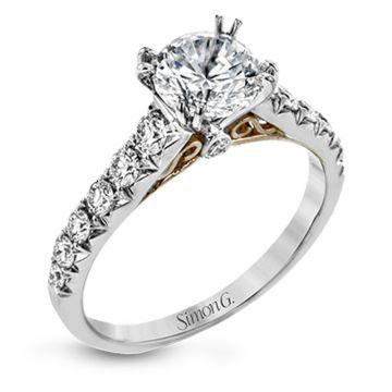 Simon G. 18k White Gold Passion Diamond Straight Engagement Ring