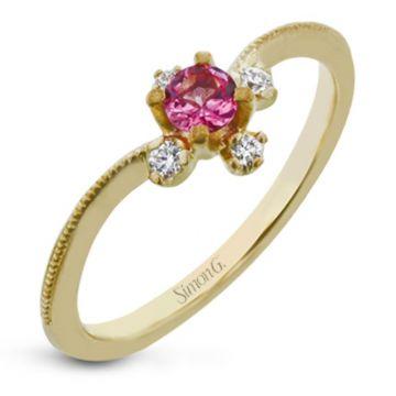 Simon G. 18k Yellow Gold Paradise Color Ring, Size 7