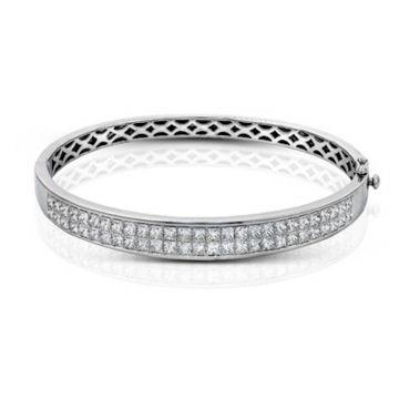 Simon G. 18k White Gold Nocturnal Sophistication Diamond Bangle Bracelet
