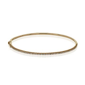 Simon G. 18k Rose Gold Classic Romance Diamond Bangle Bracelet