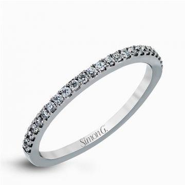 Simon G. 18k White Gold Diamond Wedding Band