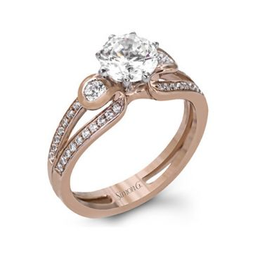 Simon G. 18k Rose Gold Diamond Engagement Ring