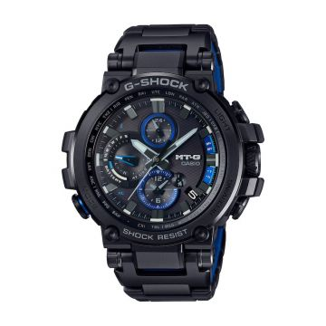 G-SHOCK MT-G Black Stainless Steel Quartz 55mm Watch