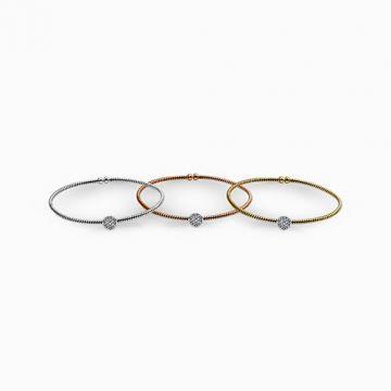 Simon G. 18k White Gold Diamond Bangle Bracelet