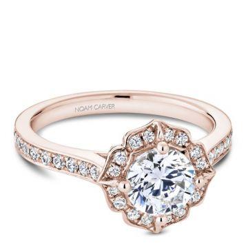 Noam Carver 14k Rose Gold Diamond Engagement Ring