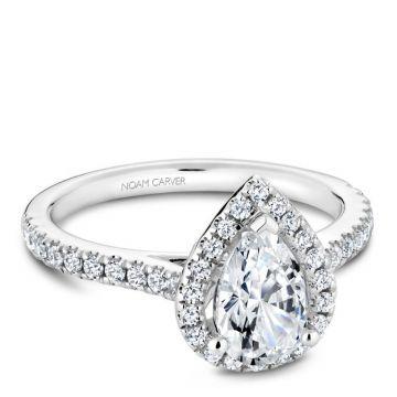 Noam Carver 14k White Gold Diamond Engagement Ring