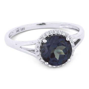 14K Gold Alexandrite & Diamond Ring