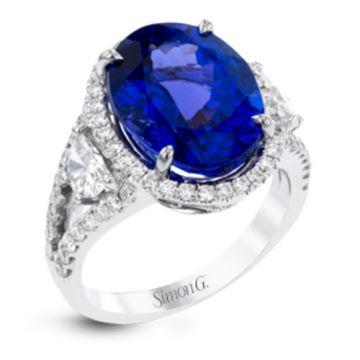 Simon G. 18k White Gold Diamond & Gemstone Ring