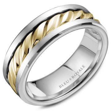 Bleu Royale 14k Two-Tone Gold Wedding Band