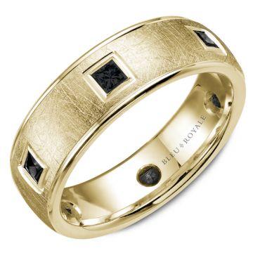 Bleu Royale 14k Yellow Gold Diamond Wedding Band