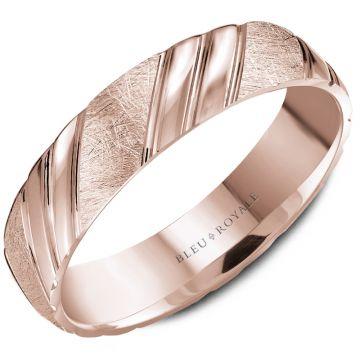Bleu Royale 14k Rose Gold Wedding Band