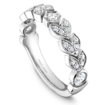 Noam Carver 14k White Gold Diamond Stackable Wedding Band
