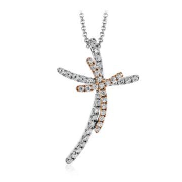 Simon G. 18k White Gold Diamond Pendant