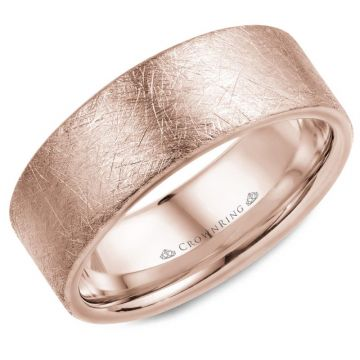 CrownRing 14k Rose Gold Wedding Band