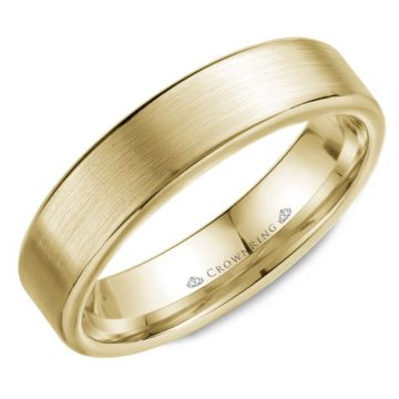 CrownRing 14k Yellow Gold Wedding Band