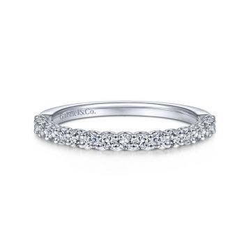 Gabriel & Co. 14k White Gold Wedding Band