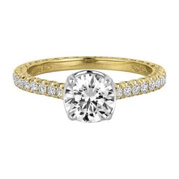 Jack Kelege 18k Yellow Gold Straight Engagement Ring