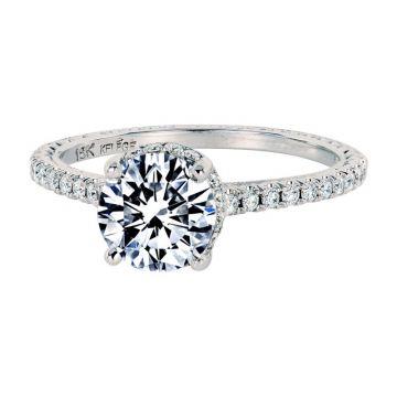 Jack Kelege 18k White Gold Straight Engagement Ring