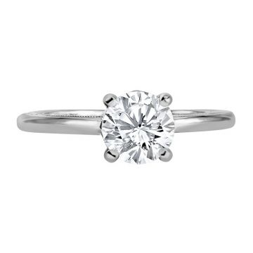 Jack Kelege 18k White Gold Solitaire Engagement Ring