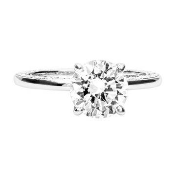 Jack Kelege 18k White Gold Solitaire Engagement Ring