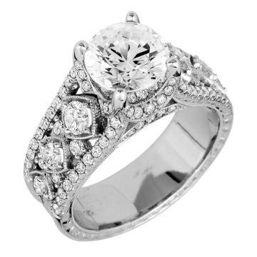 Jack Kelege Platinum Straight Engagement Ring