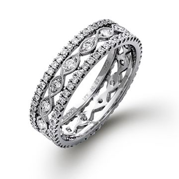 Simon G. 18k White Gold Diamond Anniversary Band