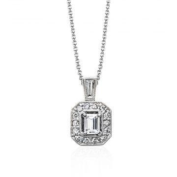 Simon G 18k White Gold 0.45ct Diamond Pendant