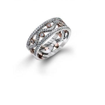 Simon G 18k Two Tone Gold 0.50 ctw Diamond Right Hand Ring
