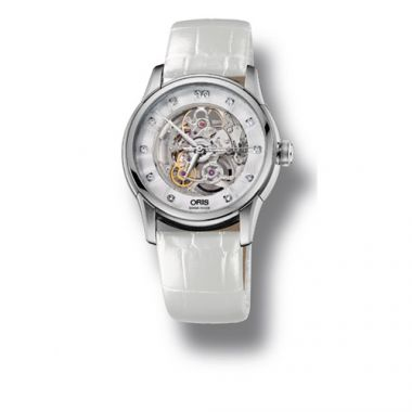 Oris Artelier Skeleton Diamonds Women's Watch