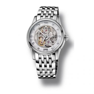 Oris Artelier Skeleton Diamonds Men's Watch